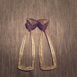 NWOT House of Harlow 1960 Gold Statement Earrings
